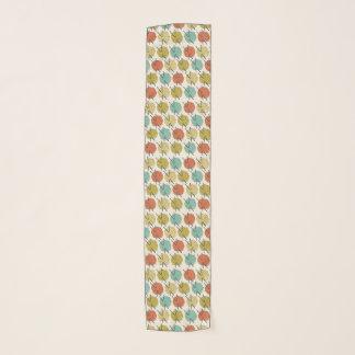 Echarpe Bolas coloridas do teste padrão de lãs