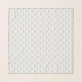 Echarpe Círculo branco gravado