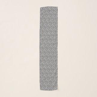 Echarpe Cor escura dos artesanatos dos ganchos de Crochet