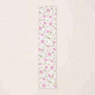 Echarpe Cor Pastel do teste padrão floral do rosa do rosa
