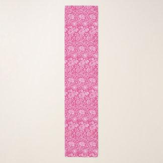 Echarpe Damasco do cravo de Nouveau da arte, rosa do