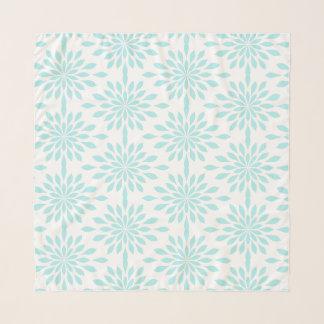 Echarpe Design geométrico chique, aqua no branco