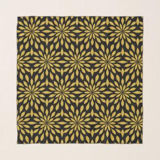 Echarpe Design geométrico chique, ouro no preto