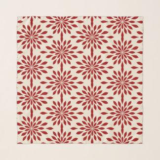 Echarpe Design geométrico chique, vermelho no chiffon de
