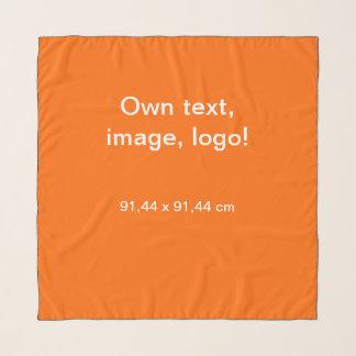 Echarpe Do lenço do Chiffon do quadrado laranja uni