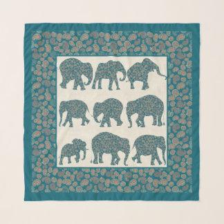 Echarpe Elefantes de Paisley do divertimento, Paisley e
