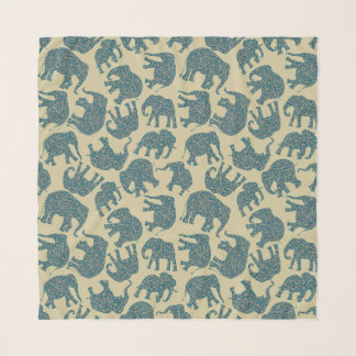 Echarpe Elefantes Ditzy de Paisley do divertimento no