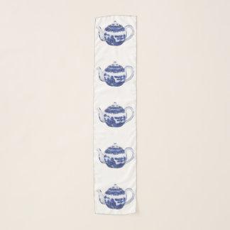 Echarpe Estilo azul do salgueiro do lenço do pote do chá