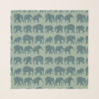 Echarpe Fileiras do divertimento de elefantes de Paisley