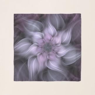 Echarpe Flor do roxo do Fractal