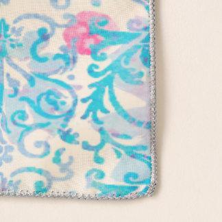 Echarpe Floral azul do primavera do damasco