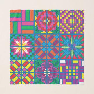 Echarpe Flores do lenço do Chiffon do azulejo da espanha
