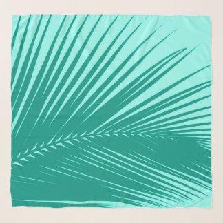 Echarpe Folha de palmeira, turquesa e Aqua