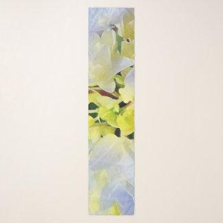 Echarpe Hydrangea da aguarela em azul e verde Pastel