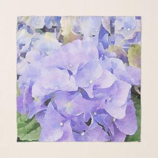 Echarpe Hydrangea roxo e violeta da aguarela