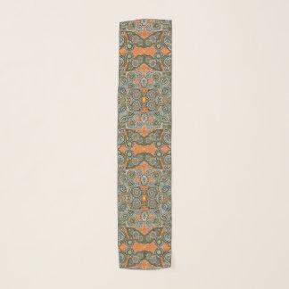 Echarpe lenço alaranjado de paisley