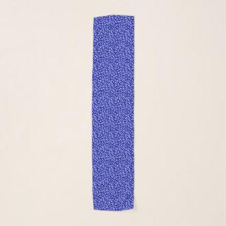 Echarpe Lenço azul do teste padrão do leopardo do Batik