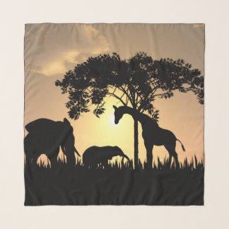 Echarpe lenço bonito do Chiffon do safari