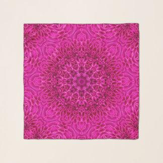 Echarpe Lenço cor-de-rosa do Chiffon do caleidoscópio do