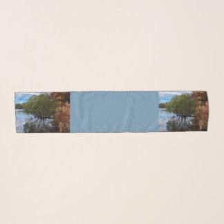 Echarpe Lenço da paisagem da árvore do lago fall de