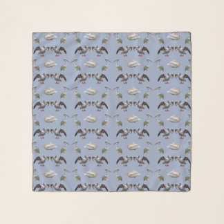 Echarpe Lenço do Chiffon da agitação do pelicano (luz -