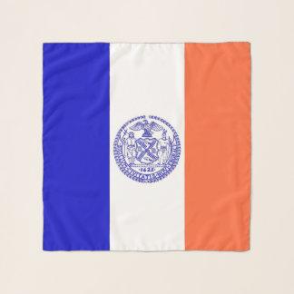 Echarpe Lenço quadrado com a bandeira da Nova Iorque, EUA