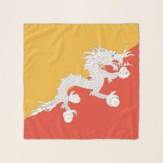 Echarpe Lenço quadrado com a bandeira de Bhutan