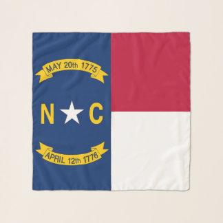 Echarpe Lenço quadrado com a bandeira de North Carolina,