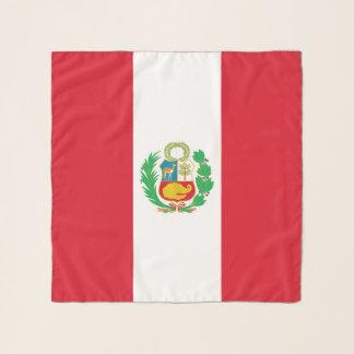 Echarpe Lenço quadrado com a bandeira de Peru