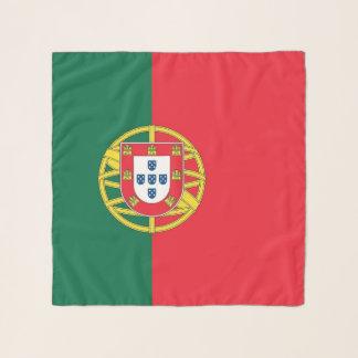 Echarpe Lenço quadrado com a bandeira de Portugal