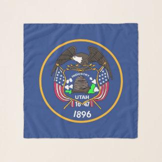 Echarpe Lenço quadrado com a bandeira do estado de Utá,