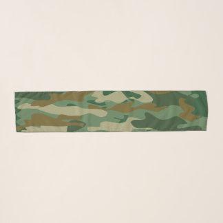 Echarpe Lenço verde do chiffon do teste padrão do camo da