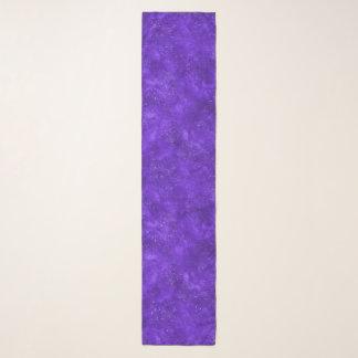 Echarpe Lenço violeta do chiffon da galáxia