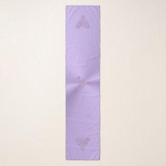 Echarpe Lilac phoenix estilizado com efeito gravado