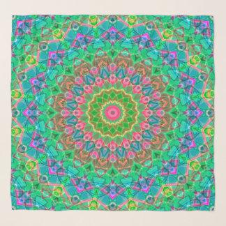 Echarpe Mandala geométrica G18 do lenço quadrado