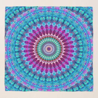Echarpe Mandala geométrica G382 do lenço quadrado
