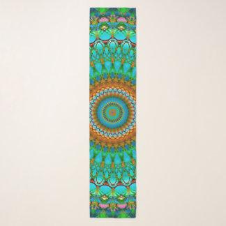 Echarpe Mandala geométrica G388 do lenço longo