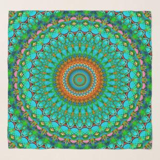 Echarpe Mandala geométrica G388 do lenço quadrado