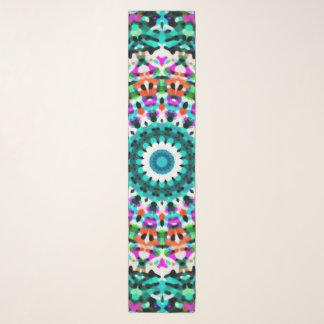 Echarpe Mandala geométrica G405 do lenço longo
