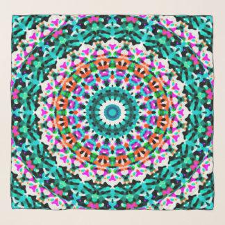 Echarpe Mandala geométrica G405 do lenço quadrado