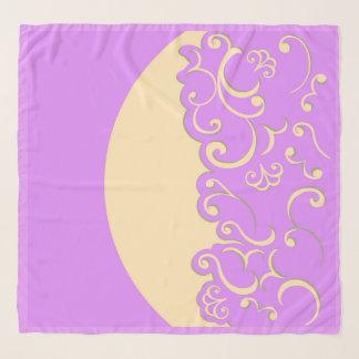 Echarpe Marfim e Lilac
