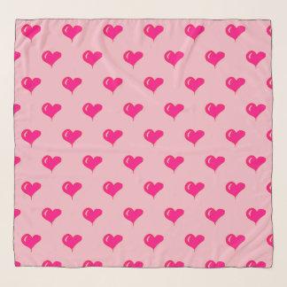 Echarpe Namorados - aniversário - amor - corações