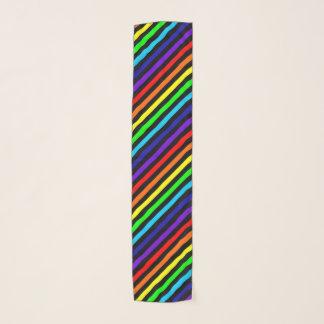 Echarpe O arco-íris listra o lenço do Chiffon