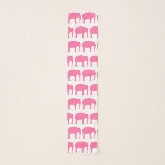 Echarpe O elefante cor-de-rosa mostra em silhueta o teste