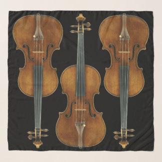 Echarpe O trio do violino de Stradivarius escolhe a cor do