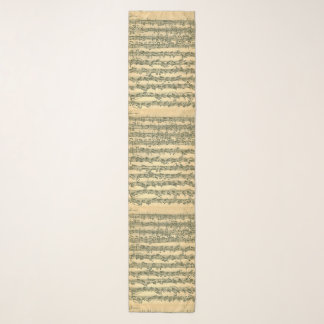 Echarpe Páginas do manuscrito da música de Bach Chaconne