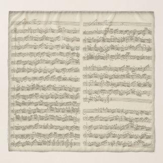 Echarpe Páginas escritas à mão da série do violoncelo de