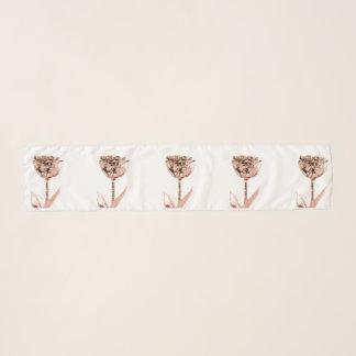 Echarpe Pó mínimo metálico da flor de cobre cor-de-rosa do