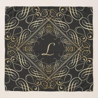 Echarpe Roteiro elegante de Scrollwork do olhar da folha