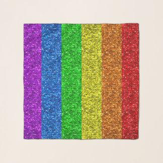Echarpe Sparkles vibrantes da bandeira de LGBT
